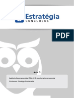 Auditoria Governamental - TCU_2015 - Aula 01