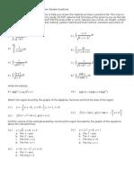 Calculus 2 Exam 1 Review (Avila)