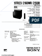 Kv2160wr- Tv Sony