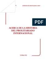 Historia del proletariado Internacional