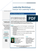 Leadership Workshop, October 27 - How to Become a Top Employer