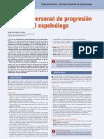Equipo  progresión vertical en espeleología