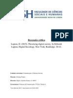 Recensão de Comunicação e Ciências Sociais
