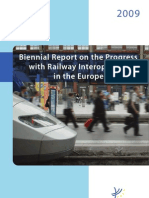 Biennial Report on the Progress with Railway Interoperability in the European Union