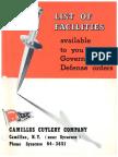 1951 Camillus Catalog