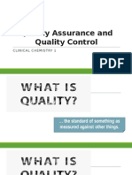 Quality Assurance and Quality Control 2015