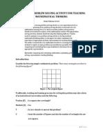 Optimizing Problem Solving for Teaching Thinking