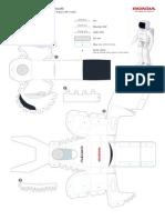 ASIMO Papercraft Standard