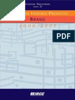 Matriz insumo produto 2000 - 2005