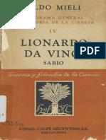 Lionardo Da Vinci - Aldo Meli