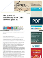 The Power of Community How Cuba Survived Peak Oil