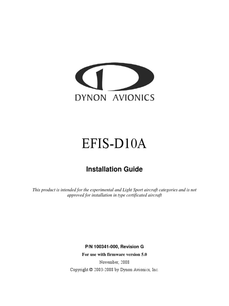 Efis D10a Installation Guide Electrical Connector Transponder Wiring Diagram Together With Null Modem Cable Pinout Further Allen Aeronautics