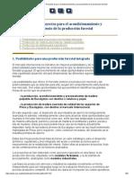 Capitulo v - Proyectos Para El Acondicionamiento y Procesamiento de La Producción Forestal