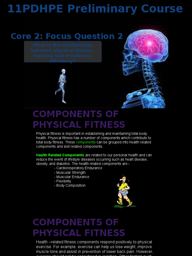 5 Health And Skill Related Components Of Fitness Physical Fitness Physical Exercise