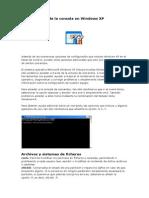 Menus Ocultos Comandos Desde La Consola en Windows XP