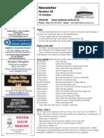 Newsletter Term_4 Week 1 2015