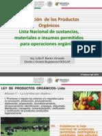 Regulación de los productos orgánicos