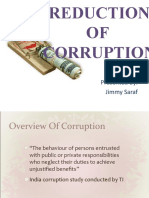 Reduction of Corruption
