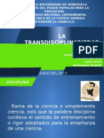 La Transdisciplinariedad