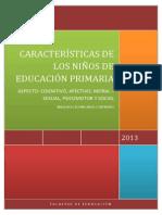 Caracteristicas de Los Niños en Primaria-Informe