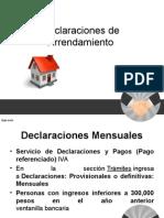 delacraciones arrendamiento
