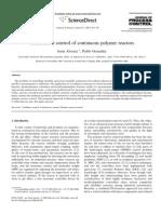 Constructive Control of Continuous Polymer Reactors