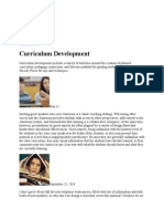 Curriculum Development