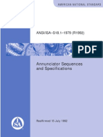 ANSI-IsA S18.1-199 Annunciator Sequence and Spec
