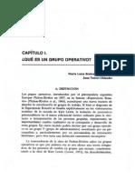 Cap. 1 Qué Es Un Grupo Operativo- Brohman y Tubert-Oklander
