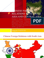 Review Sutter, 2008, China Foreign Relations With South Asia and Central Asia