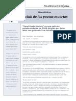 Citas Célebres de la película El Club de Los Poetas Muertos