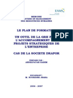 Plan Formation Outil GRH Projets Strategiques