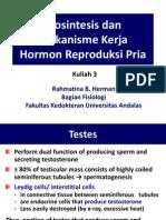 Kuliah 3. Biosintesis Dan Mekanisme Kerja Hormon Reproduksi Pria