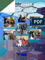 La Hc Sum Fall 2015 Schedule