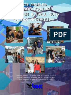 La Hc Sum Fall 2015 Schedule | University Of California | Fee