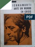 Krishnamurti - Ante Un Mundo en Crisis