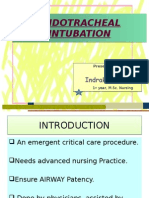 Endotracheal Intubation