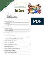 Possessive Case 102014