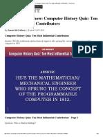 Computer History Quiz