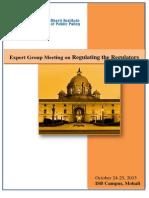 Expert Group Meeting on Regulating the Regulators (October 24-25, 2015)