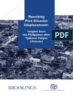 Resolving PostDisaster DisplacementInsights From the Philippines After Typhoon Haiyan June 2015