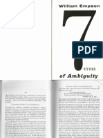 W. Empson Seven Types of Ambiguity (Extracts)