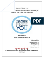 Market Research - E-Cigarette - Final - Group 10