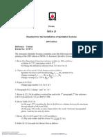 NFPA 13 2007 Errata