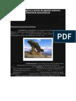 Procesos Geológicos y Acción de Agentes Externos