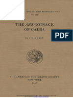 The 'aes' coinage of Galba / by C.M. Kraay