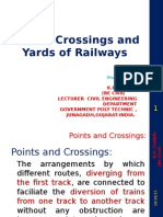 railway points and crossing