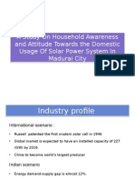 A Study on Household Awareness and Attitude Towards