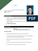 resume  with responsibity