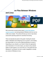 How to Share Files Between Windows and Linux
